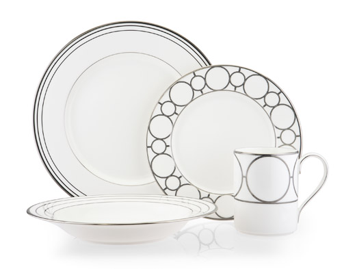 Platinum Links modern graphic design dinnerware for your bridal registry from Mikasa