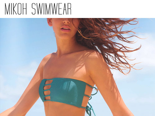 sexy honeymoon bikinis and bathing suits from Mikoh Swimwear