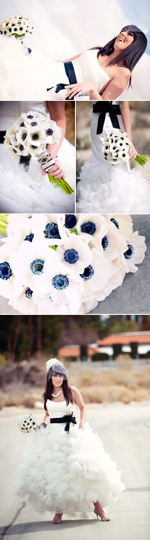 modern anemone bridal bouquet by Bella Signature Design, photos by Latasha Haynes Photography, Holly Clarke Photography, tPoz Photography and Poly Mendes Photography