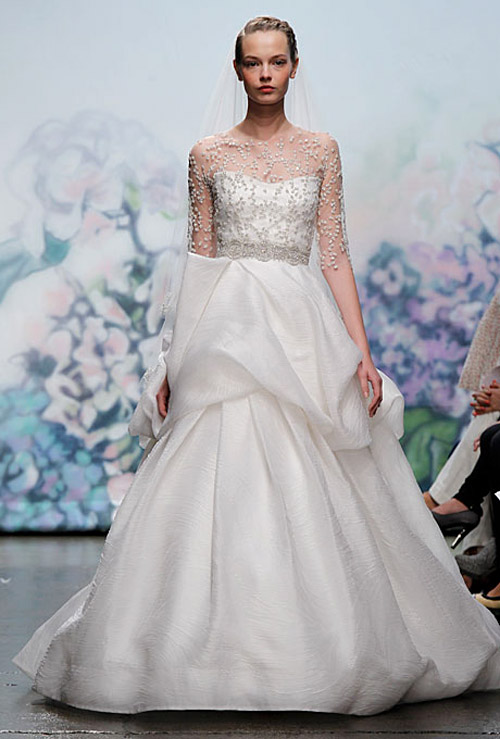 Monique Lhuillier wedding dresses from the Fall 2012 bridal collection