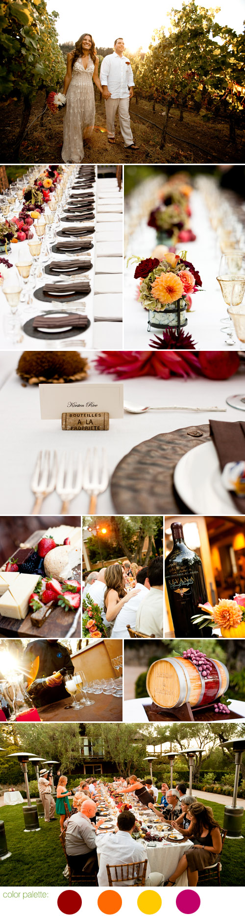 Napa Valley fall wedding photographed by Jennifer Kloss
