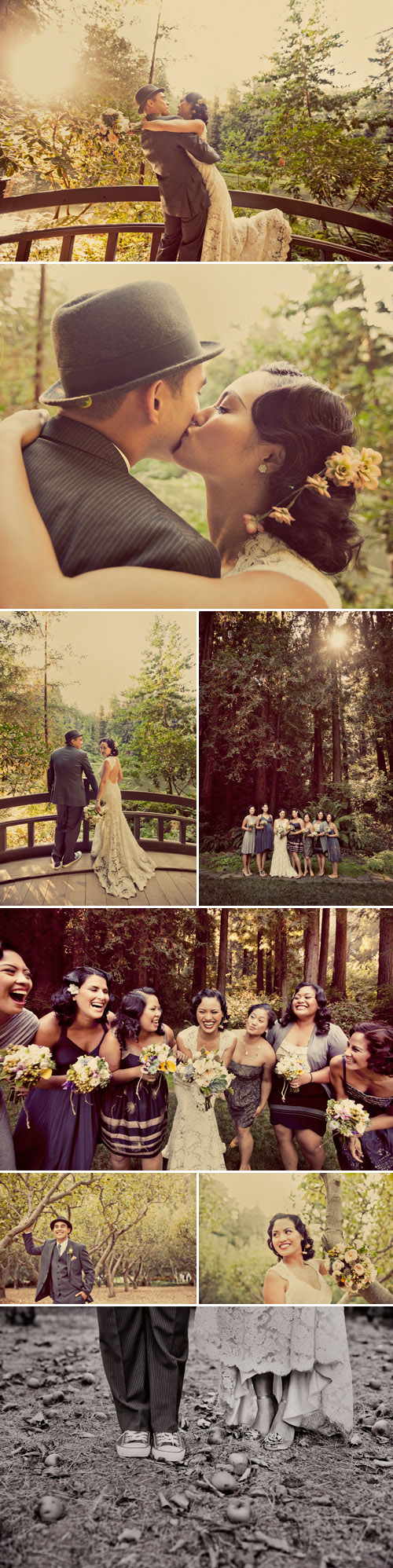 picnic inspired real wedding at Nestldown in the Santa Cruz Mountains, photos by Paco and Betty