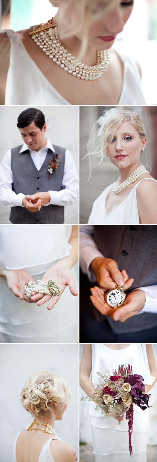 1920s Paris and New Orleans wedding ideas and inspiration, photos by Magnolia Pair