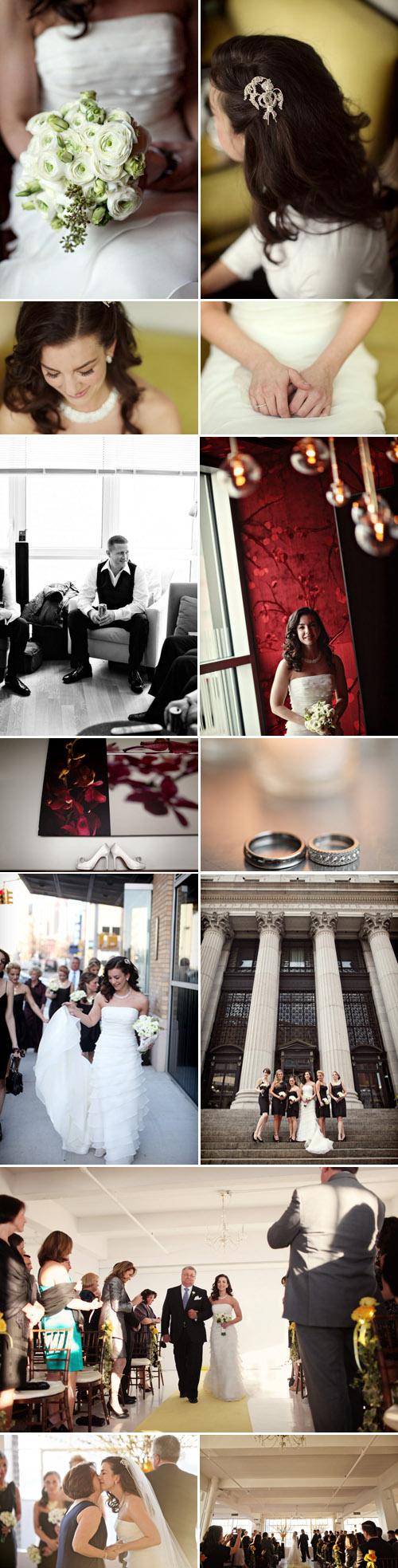 modern New York City wedding at Studio 450, photos by Alison Conklin Photography