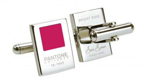 colorful Panton cufflinks for the groom, from SoniaSpencer.co.uk