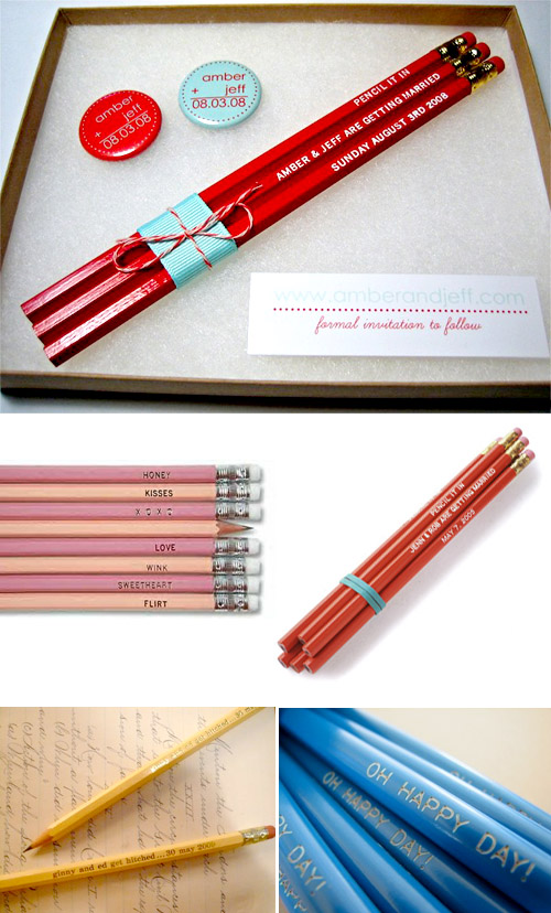 cute save the date pencils