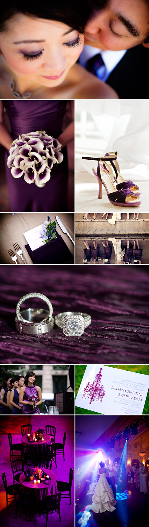 plum and purple wedding color palette - wedding decor and design inspiration