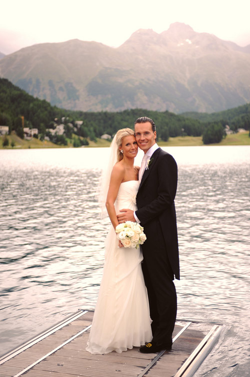 beautiful elegant wedding in St. Moritz, Switzerland, photos by Andrea & Marcus Photography