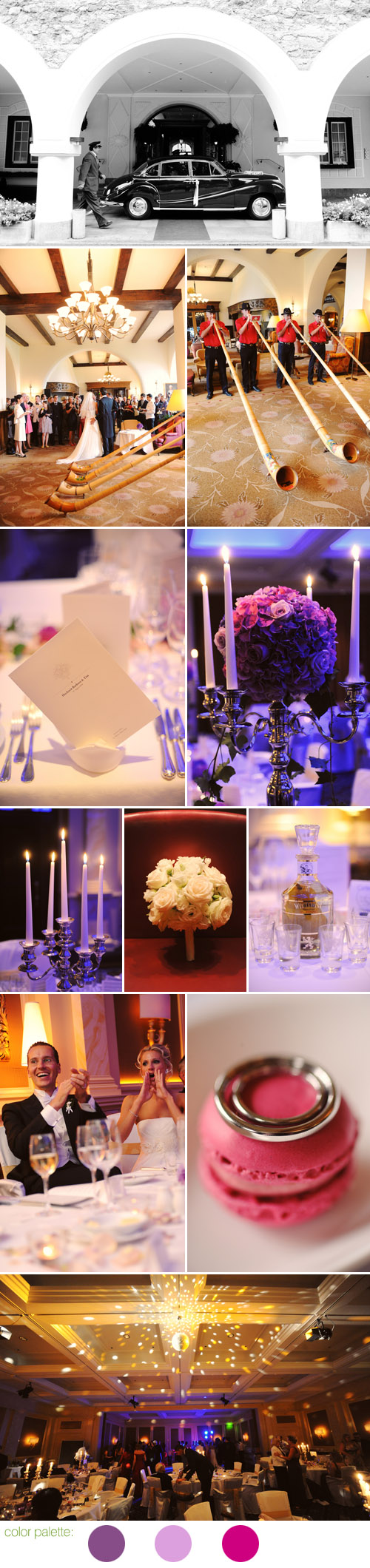 colorful and personal wedding reception in St. Moritz, Switzerland, photos by Andrea & Marcus Photography