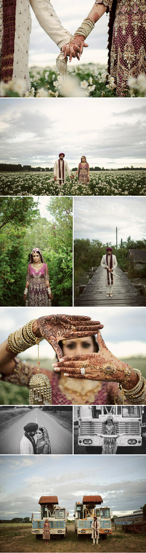 traditional Indian Sikh wedding in Vancouver, BC, purple, lavender, silver and black wedding colors, photos by Nordica Photography