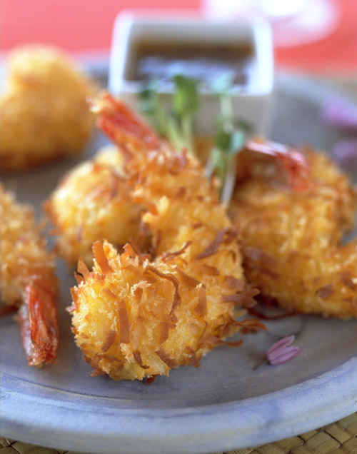 coconut prawns recipe - Ray's Catering - wedding seafood catering for Seattle area weddings