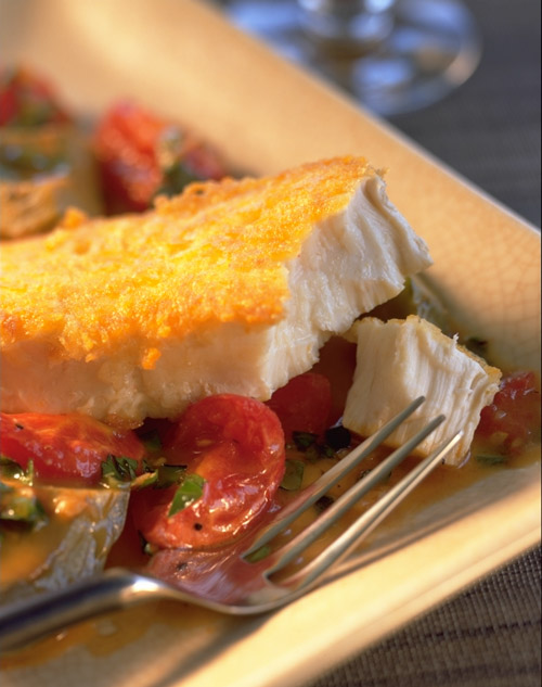parmesan crusted halibut recipe - Ray's Catering - wedding seafood catering for Seattle area weddings
