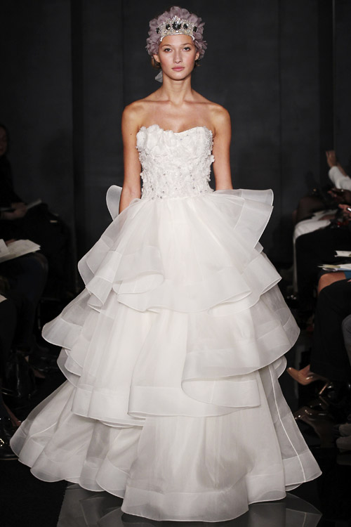 Reem Acra Fall 2012 Wedding Dress Collection in NY | Junebug Weddings