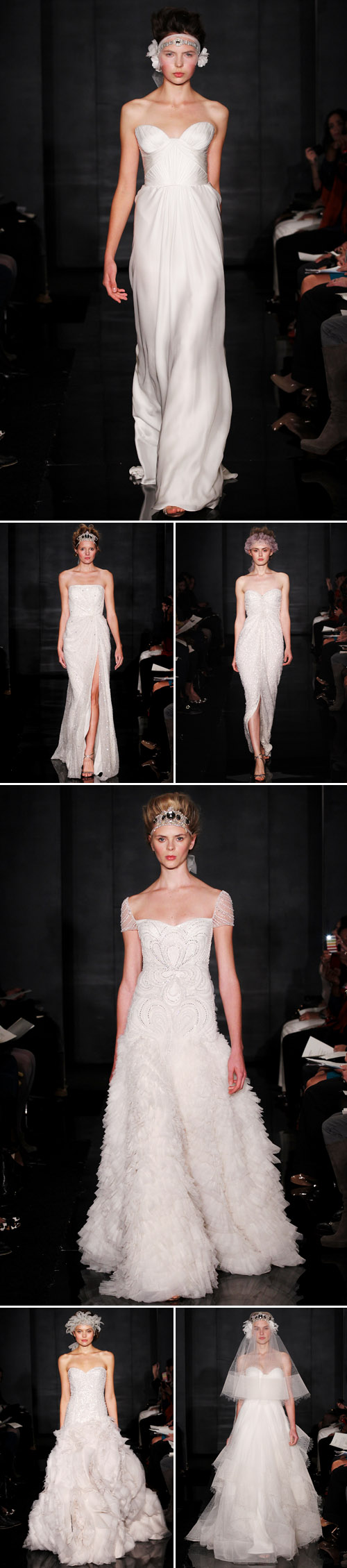 dramatic high fashion wedding dresses from Reem Acra Fall 2012 bridal collection
