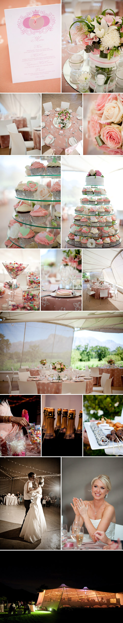romantic South African real wedding, images from Christine Meintjes