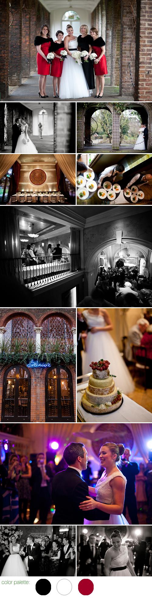 Black And White Chanel Inspired London Wedding Junebug