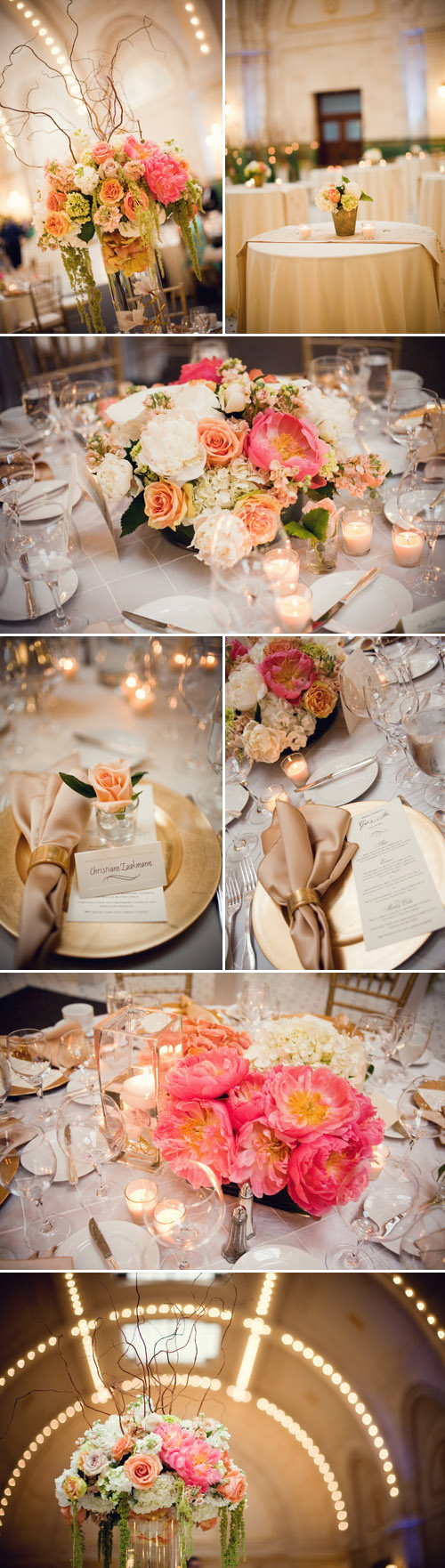 Ivory Champagne Gold And Peach Seattle Wedding Junebug Weddings
