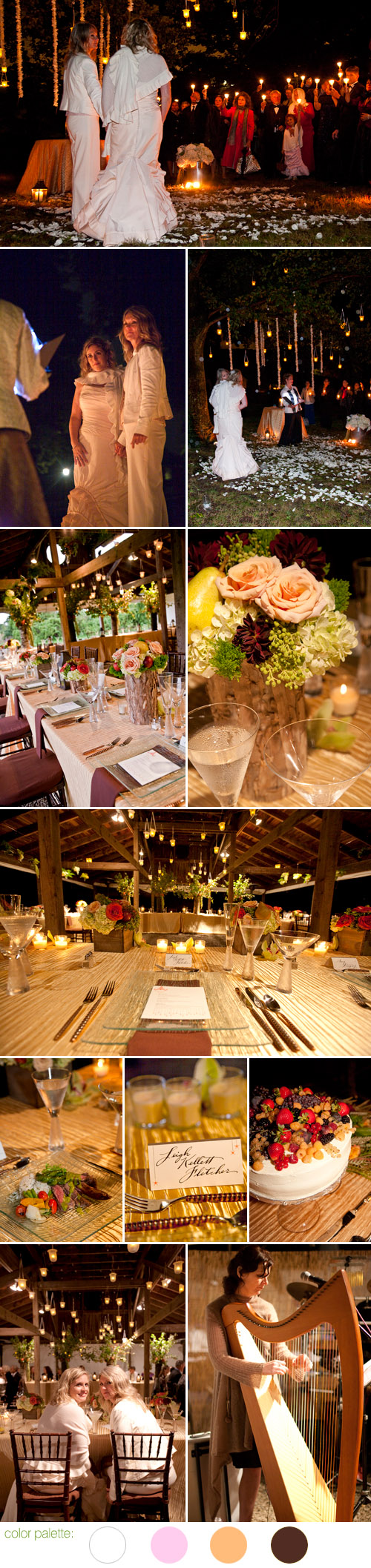 romantic rustic decor wedding on Thompson Island, Boston, MA, Bernadette Coveney Smith - 14 Stories, photos by Kathempel Photography
