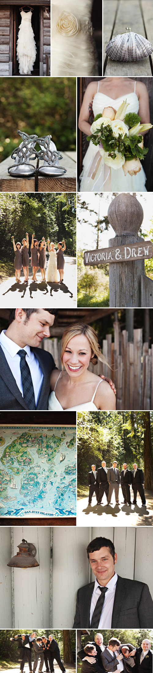 rustic themed, country vintage real wedding, Orcas Island, Washington, image by Jenny J