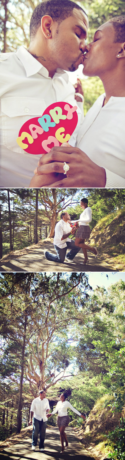 San Francisco marriage proposal and engagement photo shoot, images by Taken by Light Photography