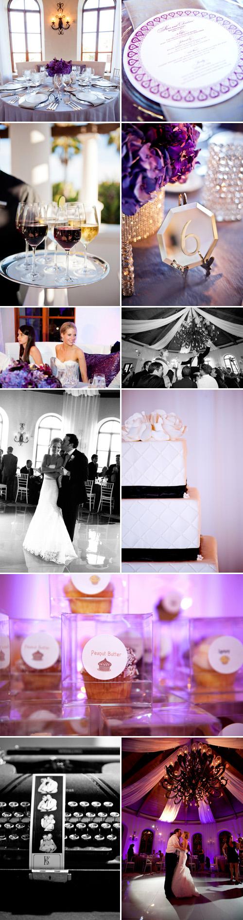 lilac and gray wedding colors, Old Hollywood glamour, Santa Barbara, California wedding at the Bacara Resort by Yvette Roman Photography and La Fete Weddings