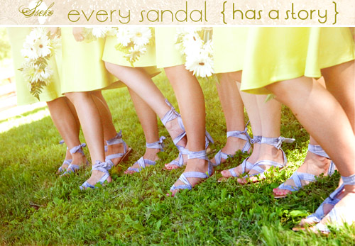 Handmade bridal sandals from Sseko Designs, wedding party bridesmaids fashion gifts