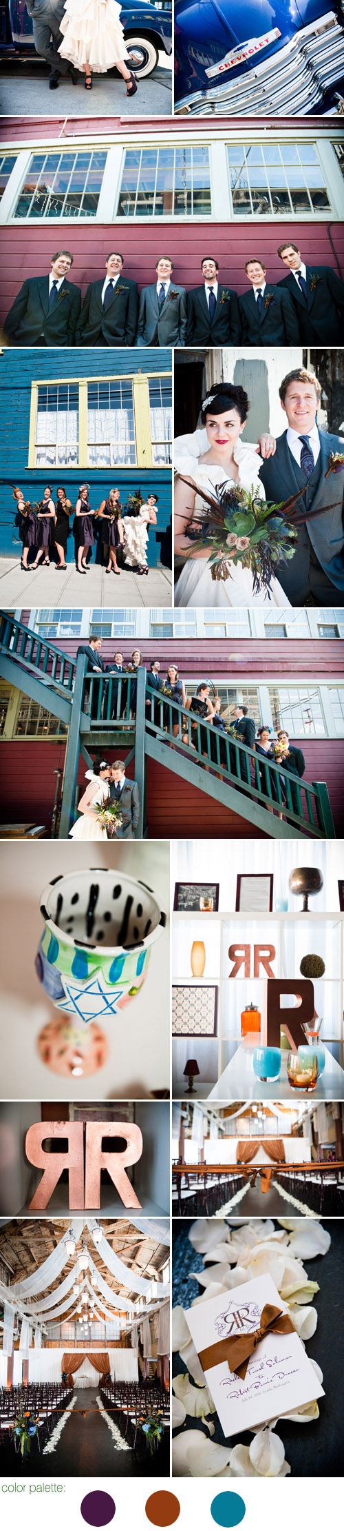 dramatic and stylish Seattle real wedding at Sodo Park, images by Laurel McConnell Photography