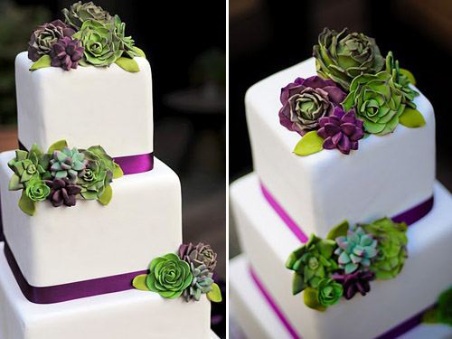 Succulent Wedding Cake Design By Erica O'Brien