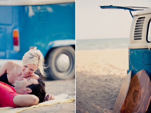 surfing inspired engagement photo shoot by Brandon Scott Photography