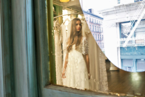 Temperley London bridal collection and New York boutique, vintage-inspired wedding dresses, photos by John and Joseph Photography