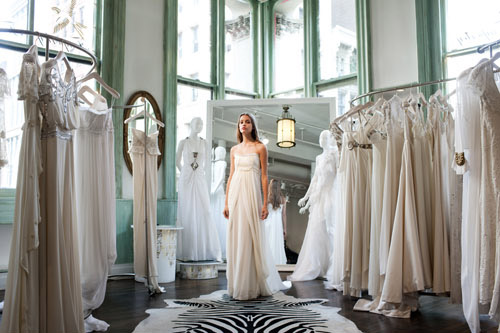 Temperley London bridal, photo by John and Joseph Photography for Junebug Weddings