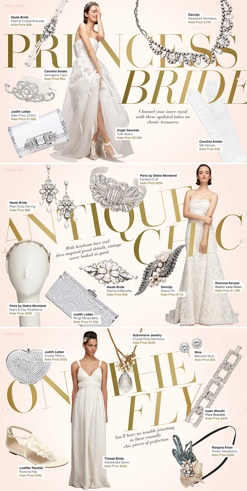 wedding fashion inspiration from The Aisle New York