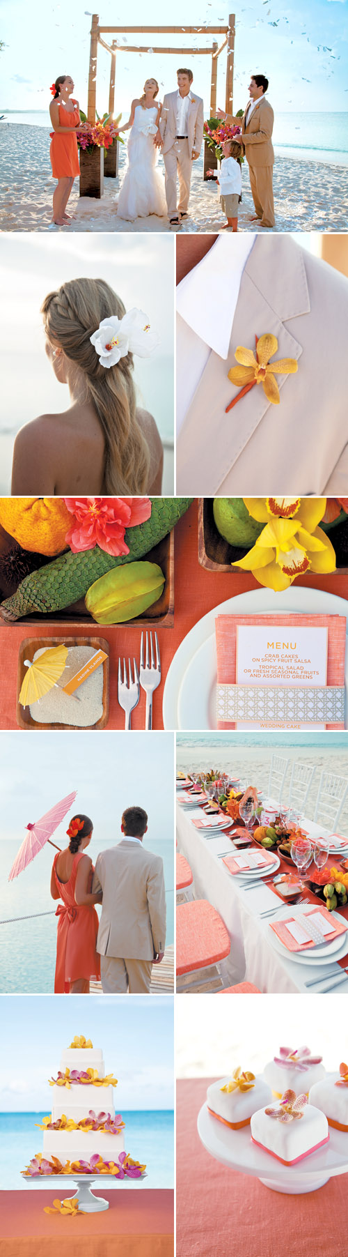 Island Paradise destination wedding theme - Beaches Resort Turks and Caicos with destination wedding packages from Martha Stewart Weddings