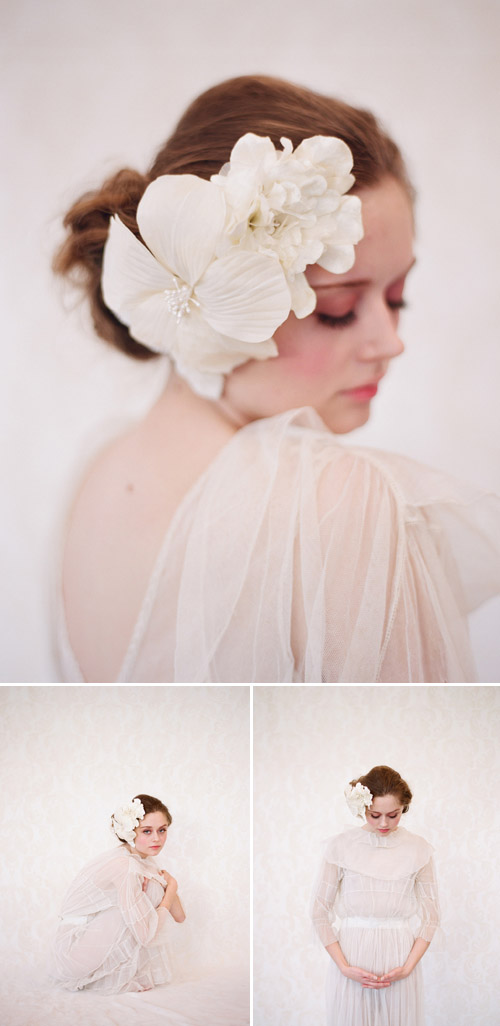 Twigs and Honey 2011 bridal accessory collection, photographed by Elizabeth Messina