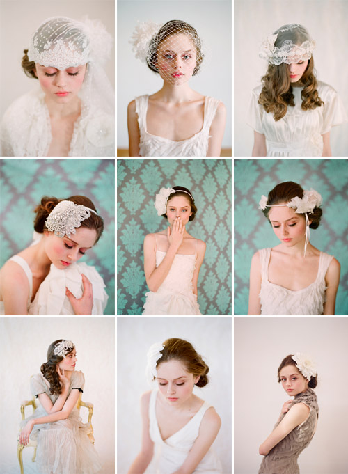 Twigs and Honey handmade bridal veils and hair accessories, images by Elizabeth Messina