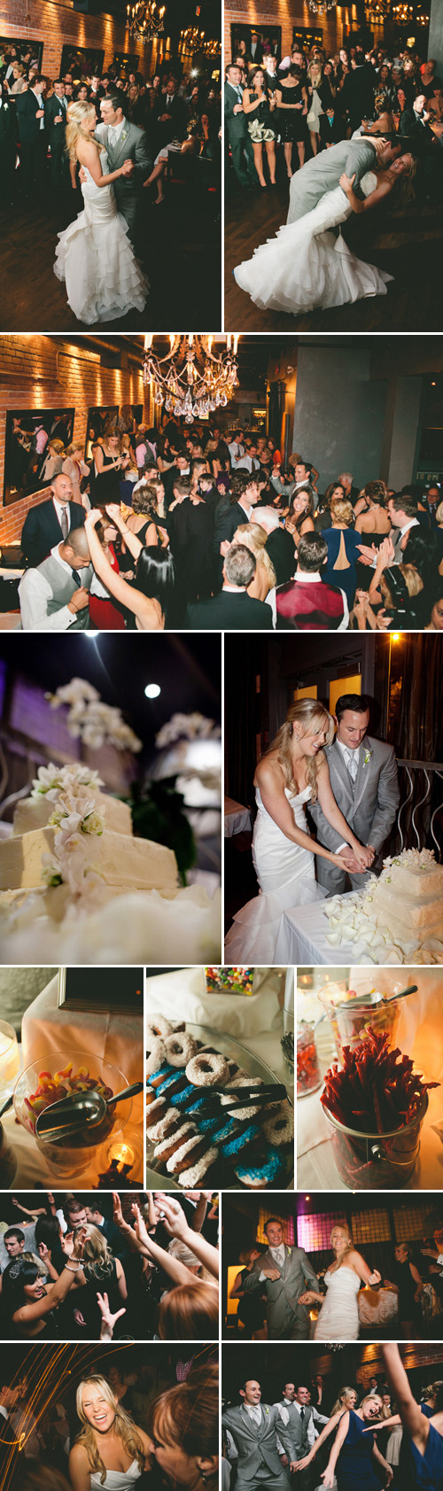 romantic Vancouver, BC wedding at The Brix Restaurant, navy and white wedding colors