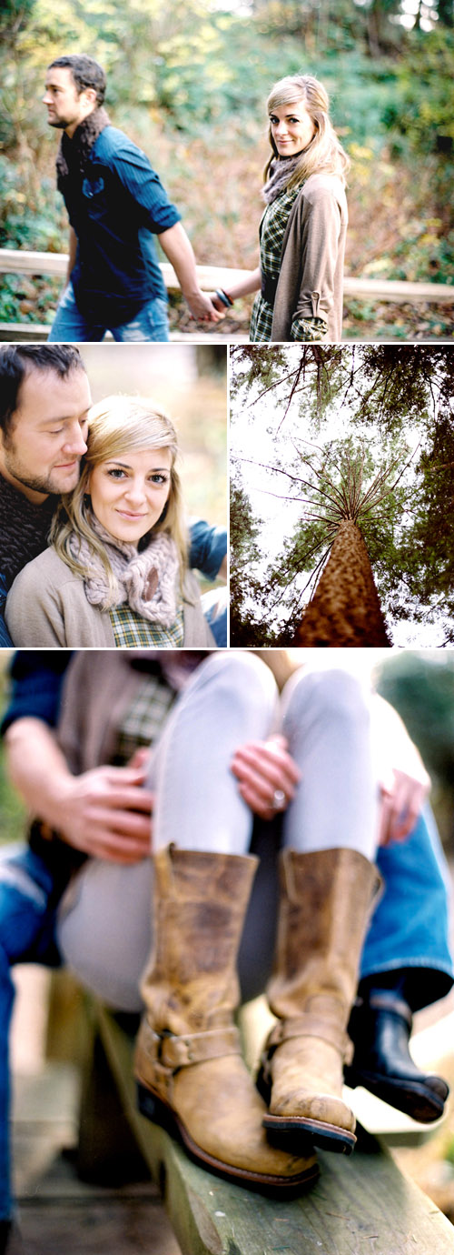 rustic and romantic Vancouver engagement photos shot at Lighthouse Park by Sherri Koop Photography