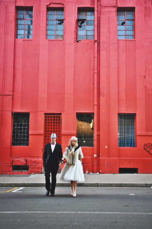 vintage style couple portraits in Johannesburg, South Africa, images by Natasha Du Preez