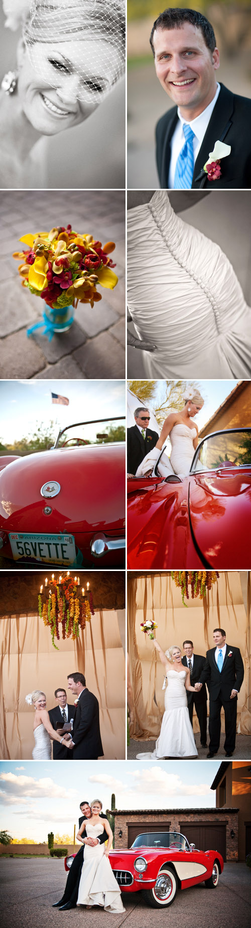 fresh, modern, Arizona real wedding, blue and white color palette, images by Keith Pitts Photography