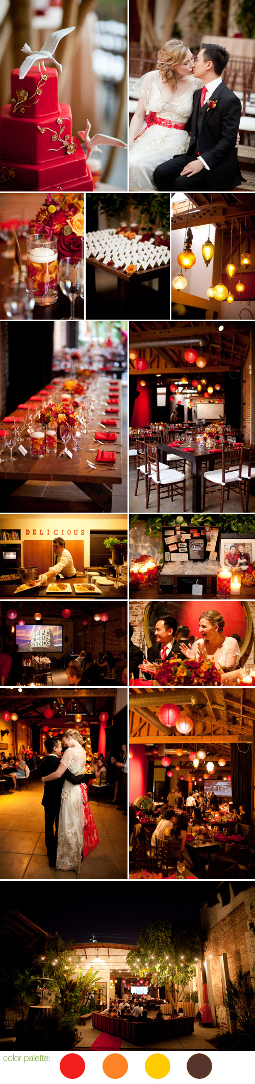 beautiful fall Los Angeles wedding at Marvimon House, by Amber Events and The Youngrens