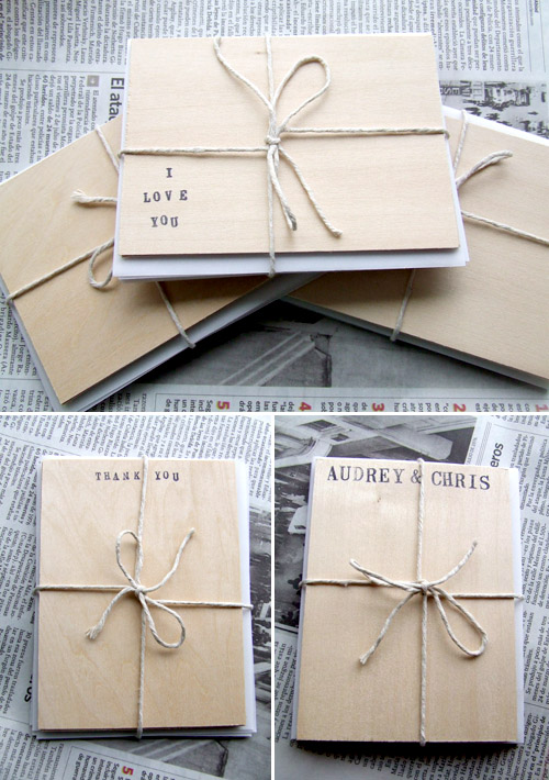 Creative Wedding Invitations Made from Wood – Wedding Stationery Thank You Cards