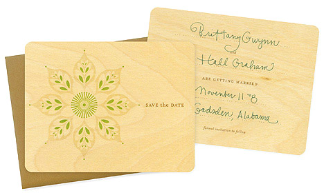 creative and unique wood wedding invitations and save the dates