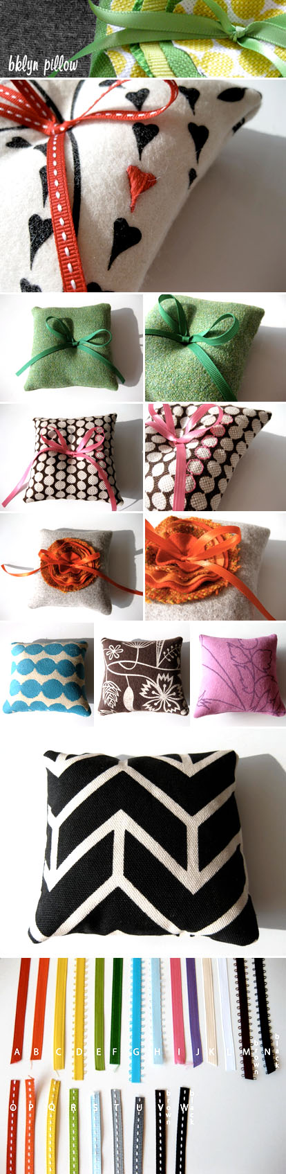 handmade wedding ring pillows from Bklyn Pillow