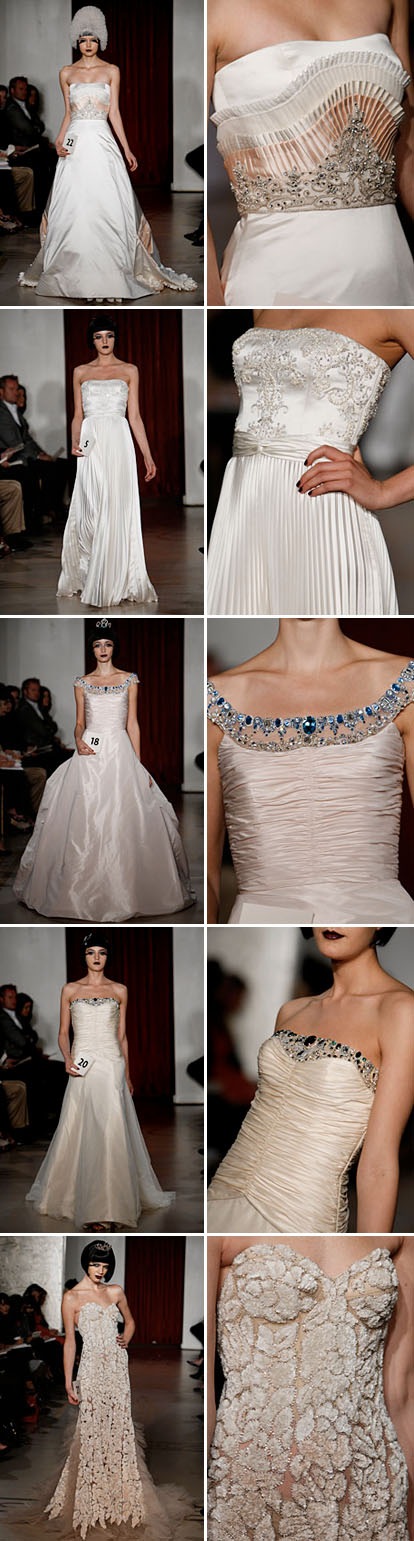 fall 09 wedding dresses from reem acra