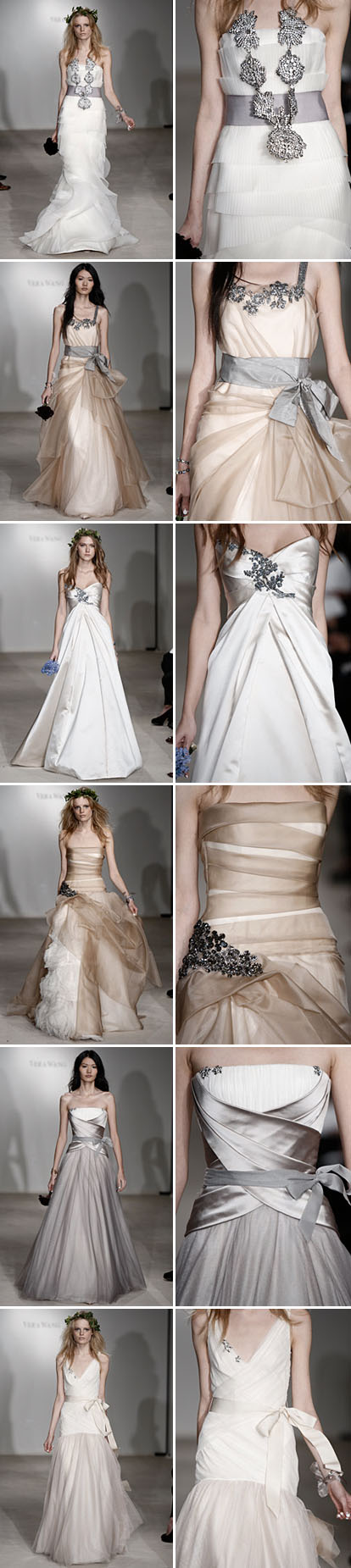 fall 09 wedding gowns from vera wang