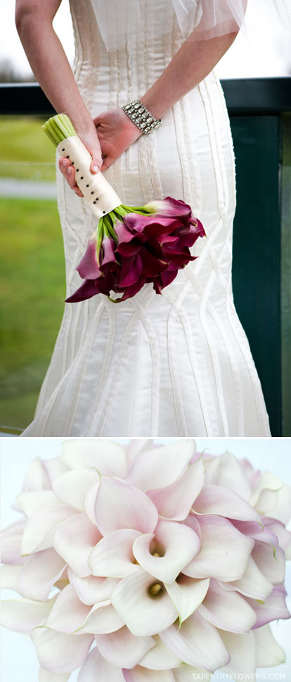 simple calla lily wedding bouquets