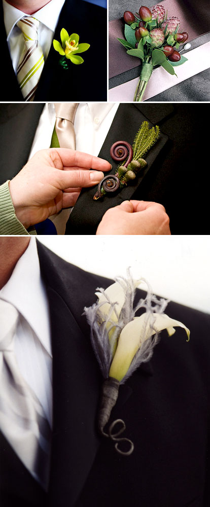 simple wedding boutonnieres for the groom