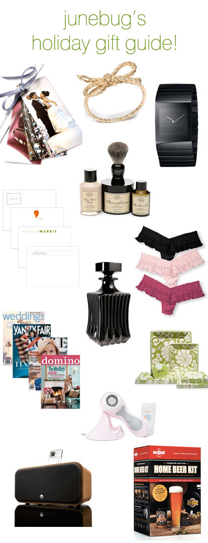 holiday gifts and creative ideas for girls, guys and weddings