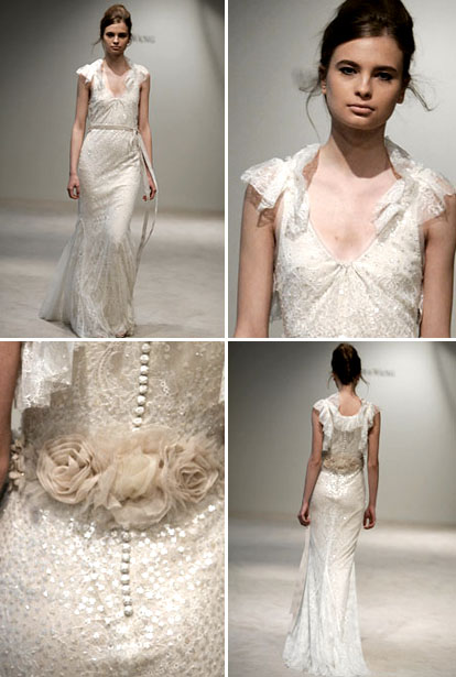 Vera Wang wedding  dress via Brides.com