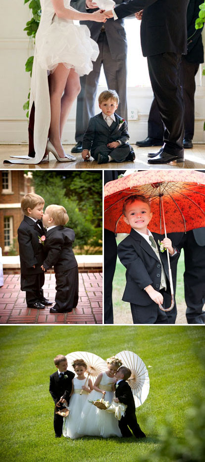 cute flower girls and ring bearers in weddings